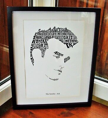 Morrissey/The Smiths/Ask A3 size typography art print/poster