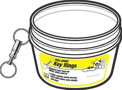 50PC PullApart Key Ring