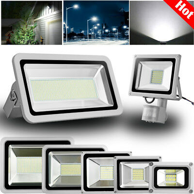LED Floodlight 10W/20W/50W/100W/150W/200W/500W/1000W PIR Sensor Outdoor Lighting