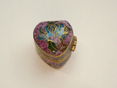 Alte Pillendose Schmuckdose Cloisonne Emaill Pillbox Box Dose Floral Miniatur 8