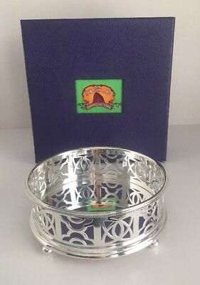 "Shanghai Tang Silver Plated Wine Coaster Dish Bowl Excellent 5"" Box"