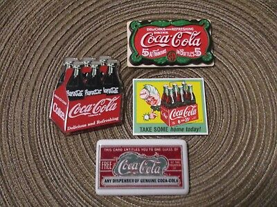 Coca Cola Advertising Magnets Lot Of 4