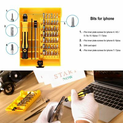 Professional 45 in 1 Precise Screwdriver Set Steel Hardware Repair Tool Kit GA