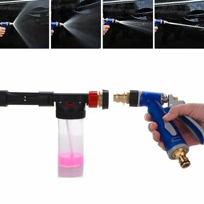 High Pressure Snow Foam Water Car Wash Spray Gun Cleaning Hose Pipe Lance NEW GT