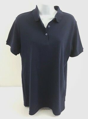 French toast Top polo v-neck Blue size 18-20P  (XL) Short Sleeve