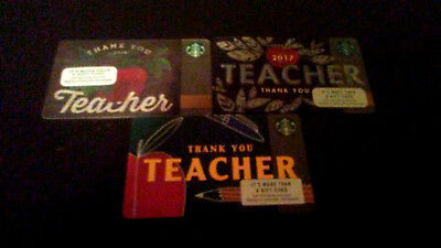 3 YEARS OF THANK YOU TEACHER Starbucks Gift Card-2016, 2017 & 2018