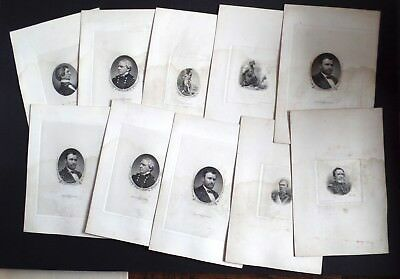 Lot 10x Antique US Bureau Engraving Printing & American Bank Note Proof