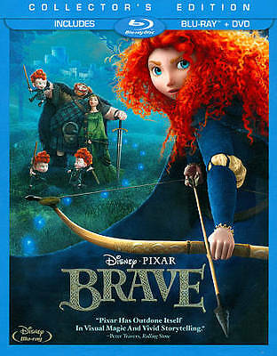 Brave Disney (Blu-ray/DVD,  3-Disc Set, Collectors Edition) Movie  + SLIP COVER