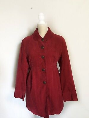 Liz Lange Maternity Red Pink Lined Maternity Jacket Coat Size Small