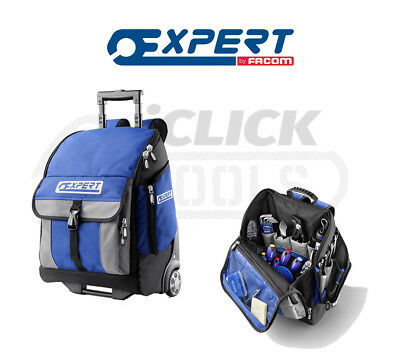 Expert By Facom Wheeled Tool Bag Rucksack Telescopic Handle Portable E010602 New