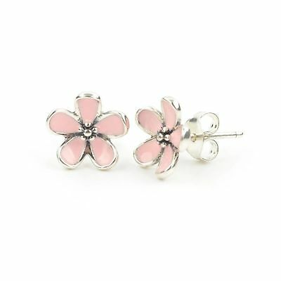 Pandora pink cherry blossom flower stud earrings in sterling silver ts pink cherry blossom flower stud earrings in 925 sterling silver with pink mightylinksfo