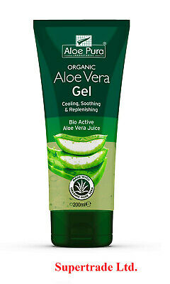 Aloe Pura - Organic Aloe Vera Gel Natural Actives - 200ml