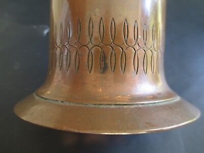 Arts and Crafts ANTIQUE nice COPPER VASE period EARLY style STICKLEY 1900's