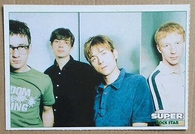 BLUR Original Vintage French Magazine Photo Card
