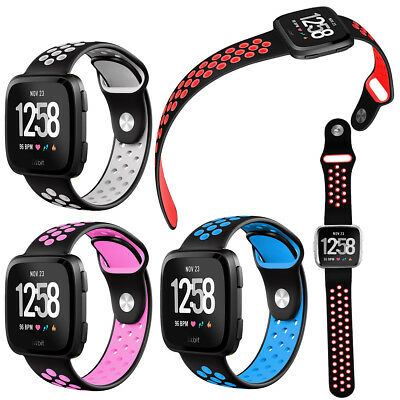For Fitbit Versa/Lite/Spencial Edition Silicone Rubber Classic Strap Wristbands