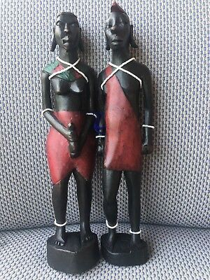 Hand Carved Wooden Statue Figure African Tribal Wood Carving