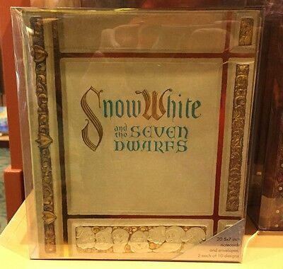 Disney Parks Walt Disney Archives Snow White Replica Storybook with Notecards