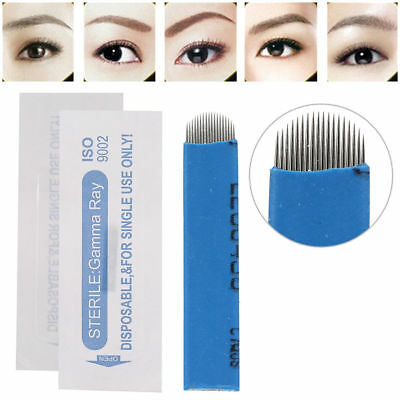 TX 100 PCS Permanent Makeup Eyebrow Tattoo Blade Microblading Needles Portabl e