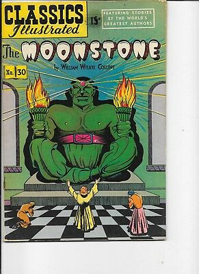 Classics Illustrated  #30  hrn 70  The Moonstone