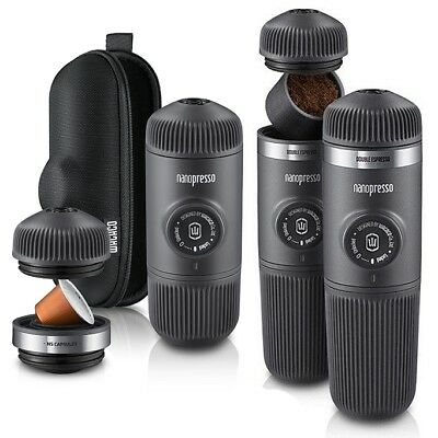 Wacaco NANOPRESSO Espresso Coffee Machine, NS Adaptor, Barista Kit, Minipresso