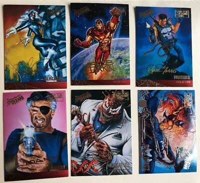 1995 Fleer Ultra Spiderman Gold Foil Signatures Lot Of 6 cards