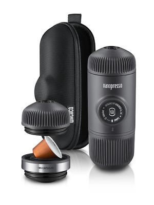 Wacaco NANOPRESSO Espresso Coffee Machine, NS Adaptor , CASE Portable Minipresso