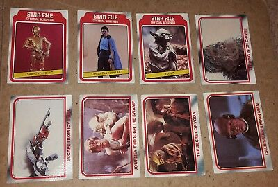 STAR WARS EMPIRE STRIKES BACK Series 1 TRADING CARDS - LOT OF 8