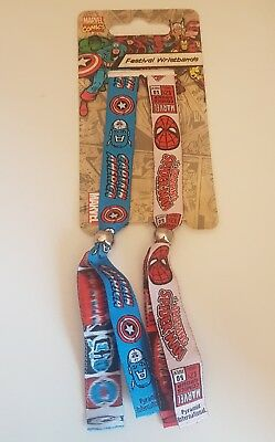 Marvel Comics Festival Wristbands - Spiderman and Captain America