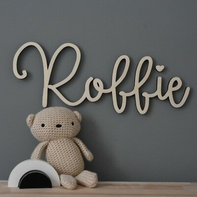 Large Wooden Name Sign Wall Sign Hanging Wall Name Letters Nursery Decor Baby