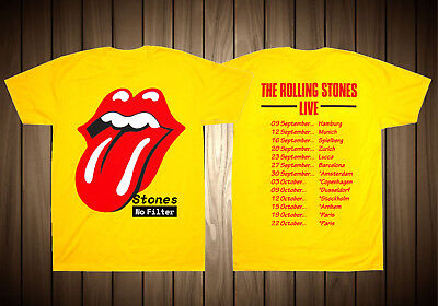 06b5f49f HOT ITEM TOUR Tshirt Rolling Stones No Filter Tour Europe Yellow T ...