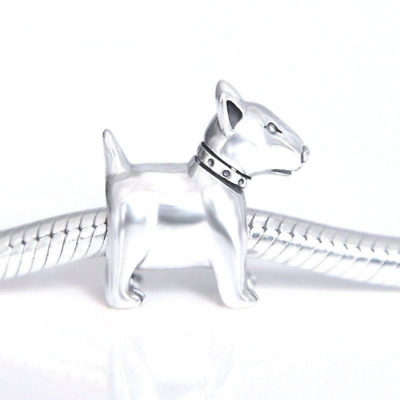 Authentic Genuine Sterling Silver Bull Terrier Bead Charm Dog Puppy Charm