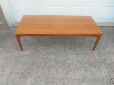 Vintage Mid-Century Modern Coffee Table Solid Teak Wood House of Denmark