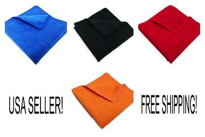 """96 Microfiber 12""""x12"""" Cleaning/Auto Detailing Cloths MIXED COLORS PRO GRADE*"""