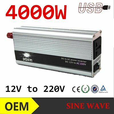 4000w Peak Modified Sine Wave Power Inverter Dc 12v To Ac 220v Car Caravannc Special Buy Power Inverters Ebay Motors