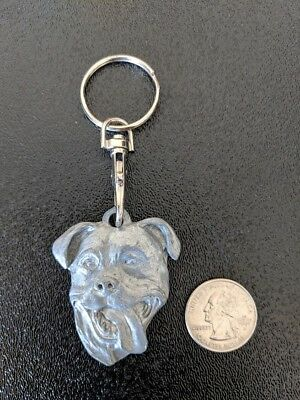 Pit Bull Dog Key Chain Handmade in USA, Collectible Item