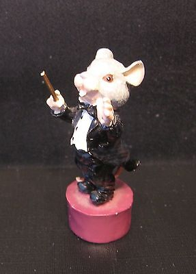 Mouse Conductor Enesco Painted Pewter Figurine