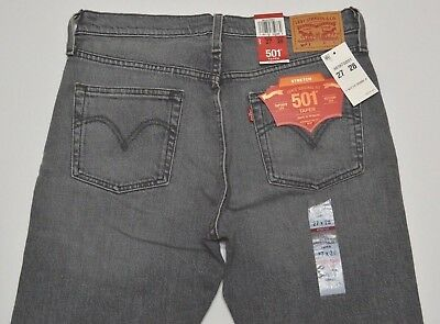 234781ec Levis Womens 501 Stretch Button Fly Tapered Leg Denim Jeans Tag Size 27x28
