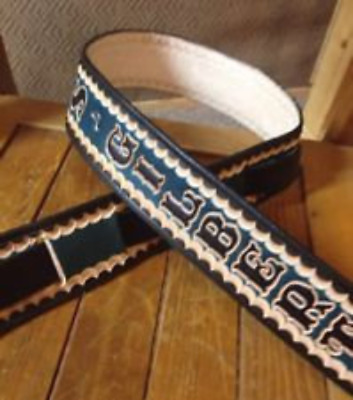 "Personalized 2 1/2"" Custom Leather Guitar Strap"