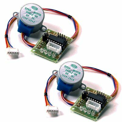 2pcs DC 5V Stepper Motor 28BYJ-48+ULN2003 Driver Test Module Board for Arduino