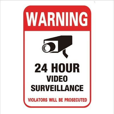 CCTV Security camera surveillance warning video Stickers decals home 24 hour WS