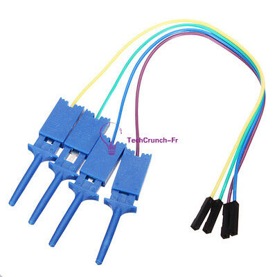 Test Clamp Wire Hook Test Clip 4PCS Electronic Components For Logic Analyzer