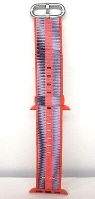 Apple watch sport band 38mm Woven Nylon Orange / Blue