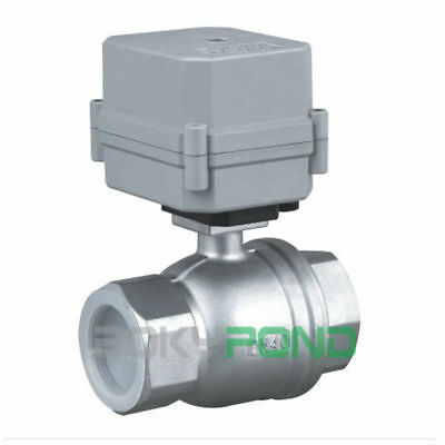 BSP 1-1/2'' Stainless Motorized Ball Valve CR2-02,AC/DC 9-35V Electric Vavle