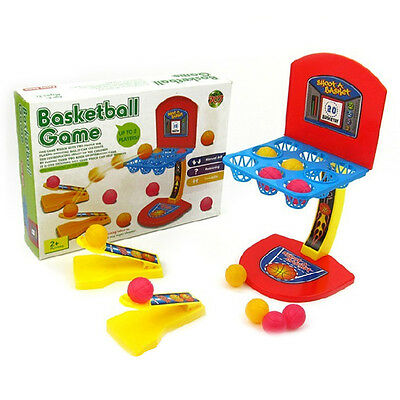 Mini Shoot Score Basketball Hoop Ball Game Table Top Board Game Family Party Fun