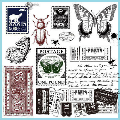 Vintage Transparent Silicone Rubber Stamps Clear Cling Sheet Scrapbooking Craft