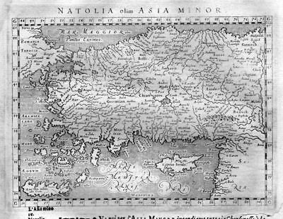 1600 - Cyprus Asia Minor Turkey map Magini Ptolemy Karte Kupferstich engraving