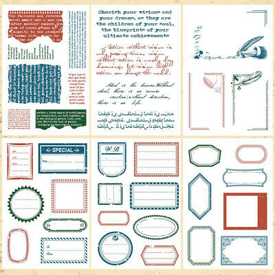 Vintage Label Transparent Silicone Clear Rubber Stamp Sheet Cling Scrapbooking