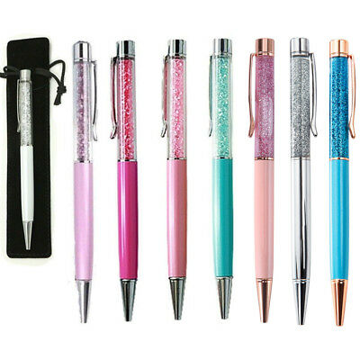 1/10/50 Personalised Engraved Metal Pens Promotional Crystal Ballpoint Pen Gift