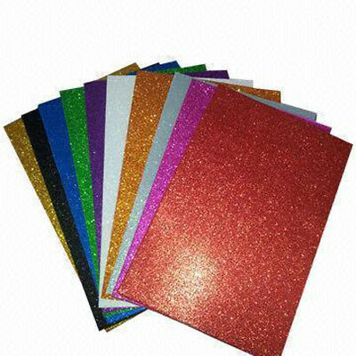 Chunky Glitter Foam Fabric Shiny Sheets In Plain Colours DIY Crafts Hair Bows