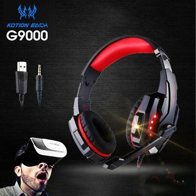Gaming Headset MIC LED Headphones Surround for PC Mac Laptop PS4 Xbox One BN